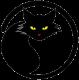 Хитроокая чёрная кошка