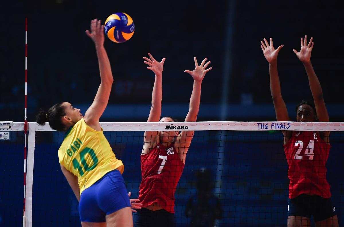 США - Бразилия: прогноз на финальный матч волейбольной женской Лиги наций
